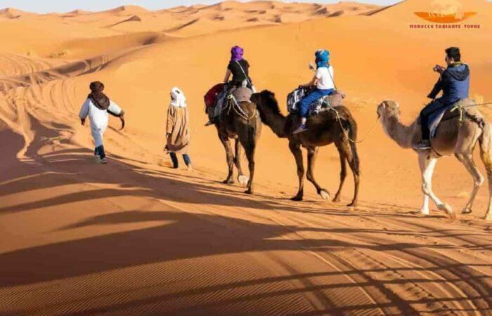 Best Morocco camel ride in Merzouga | 1 night Sahara desert camping