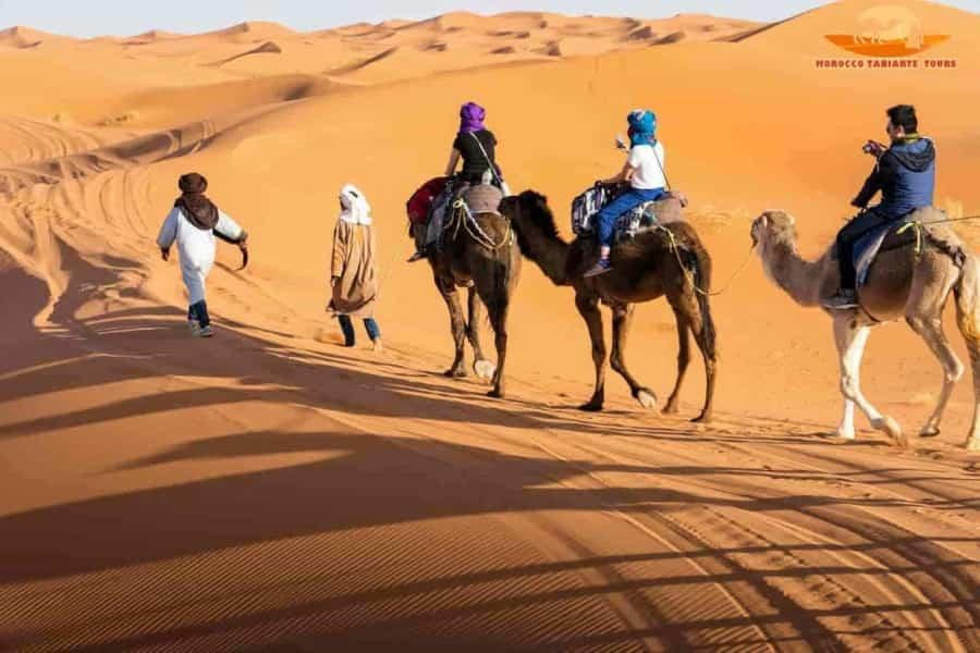 Best Morocco camel ride in Merzouga   1 night Sahara desert camping