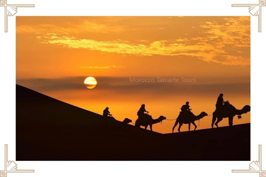 Moroccan Sahara Desert sunset